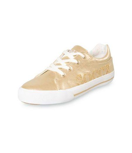 SOCCX Sneaker mit Metallic-Glanz