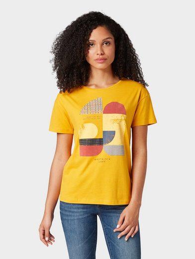TOM TAILOR T-Shirt »T-Shirt mit grafischem Print«