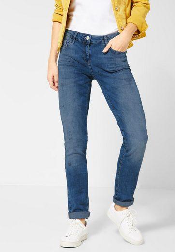 Cecil Loose-fit-Jeans mit Crash-Effekt
