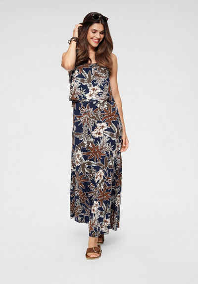 3002 Damen Kleid Maxikleid SommerTrägerkleid Blumen  Kleid schwarz Gr.38