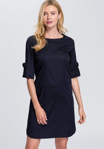 OPUS Sommerkleid »Wogo« mit Dekoschleife am Ärmelsaum