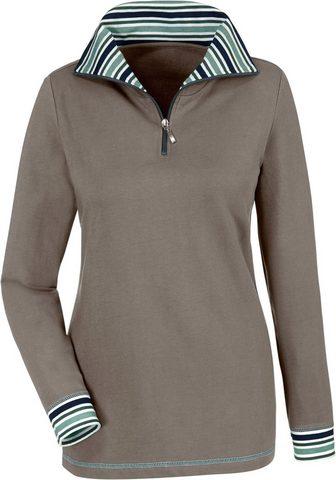 CLASSIC BASICS Sportinio stiliaus megztinis su Troyer...
