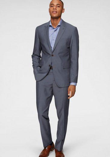 Class International Anzug (2-tlg) Kontrastfarbene Details