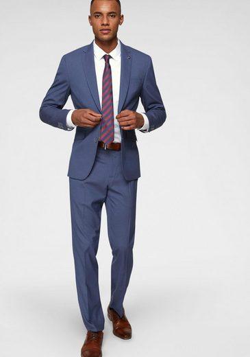 Bruno Banani Anzug (3-tlg., mit Krawatte) leichter Materialmix