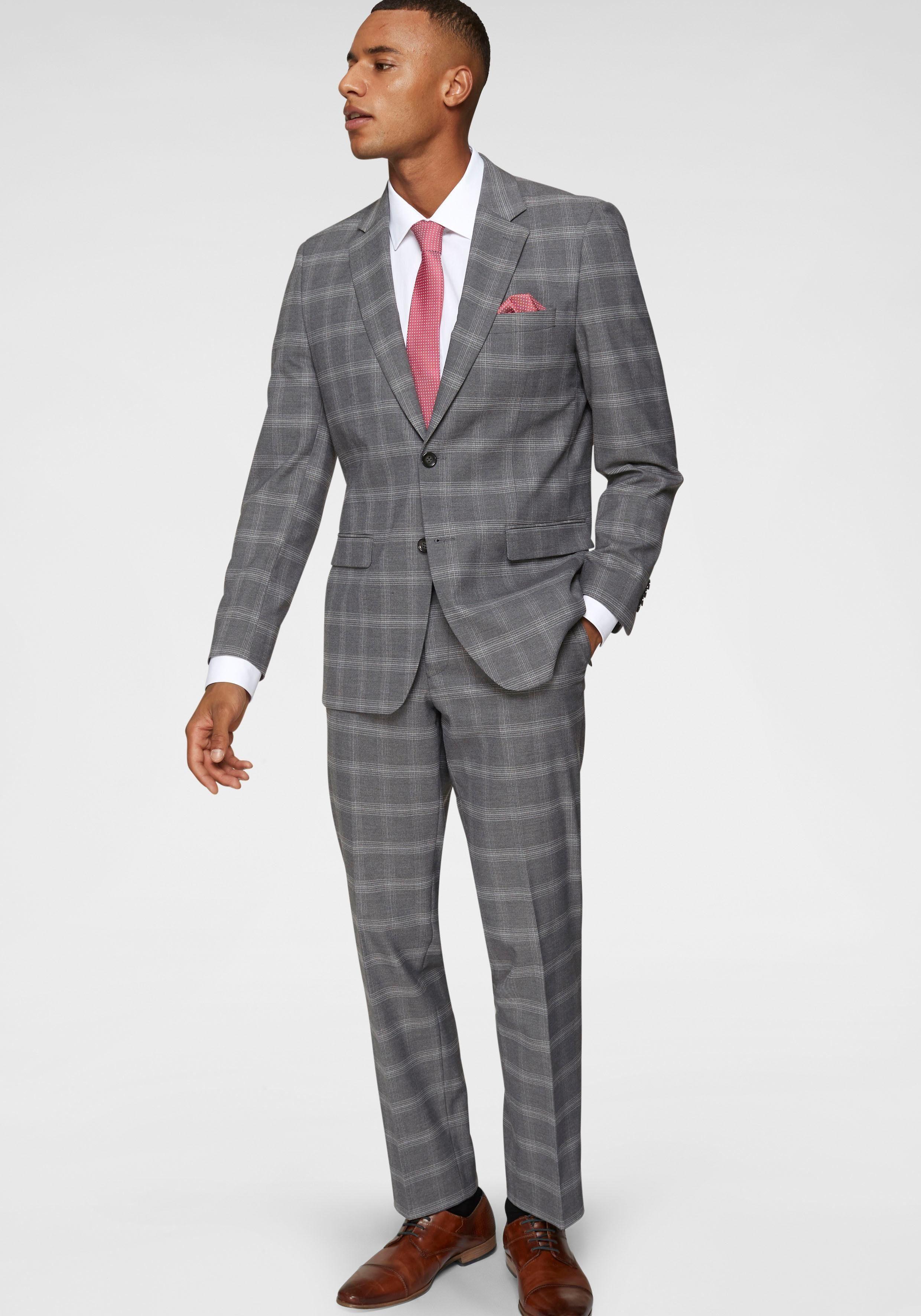 Class International Anzug (2 tlg), Trendiger Karo LooK online kaufen   OTTO