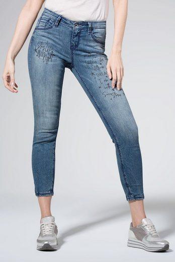 SOCCX Slim-fit-Jeans mit Schlitz im Saum