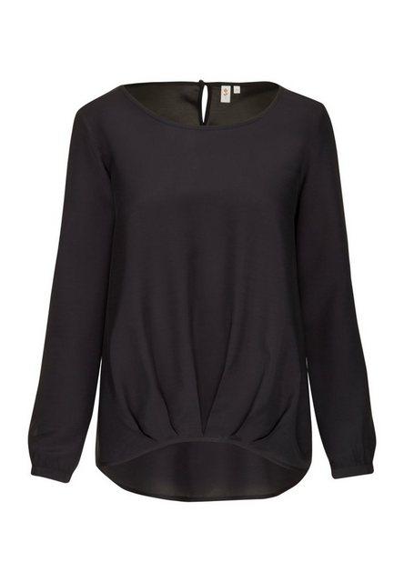 seidensticker Shirtbluse »Schwarze Rose« Langarm Rundhals Uni | Bekleidung > Shirts > Rundhalsshirts | seidensticker