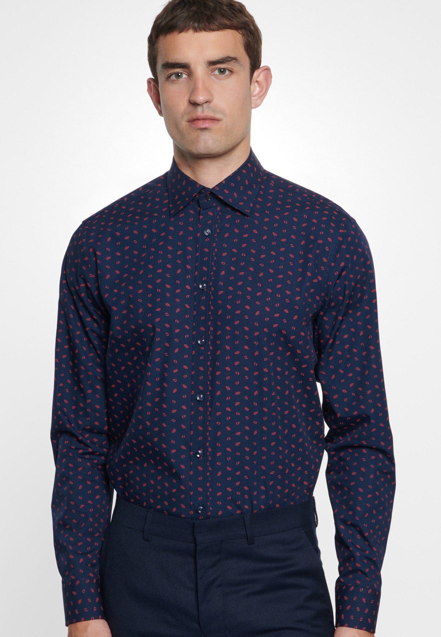 seidensticker Businesshemd »Tailored« Tailored Langarm Covered Button Down Kragen Print online kaufen | OTTO