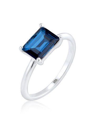 Elli Fingerring »Solitär Swarovski® Kristalle 925 Sterling Silber«