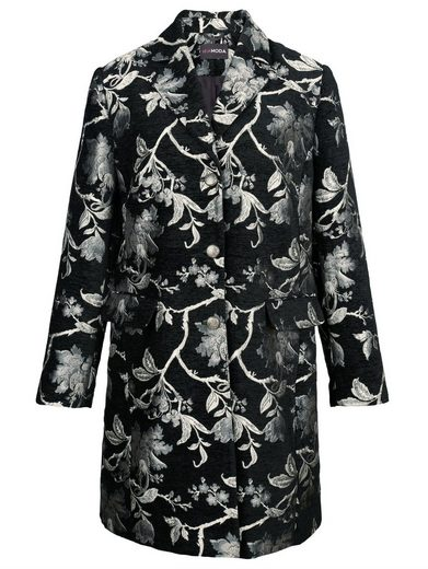 MIAMODA Mantel aus edlem Blumen-Jacuard