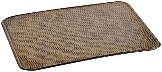 FIREFIX Bodenblech rechteckig, 500 x 600 mm, Stahlblechoptik