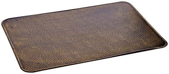 FIREFIX Bodenblech rechteckig, 600 x 800 mm, Stahlblechoptik