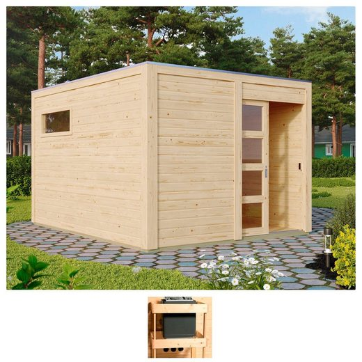 KARIBU Saunahaus »Carlton«, 368x276x221 cm, ohne Ofen