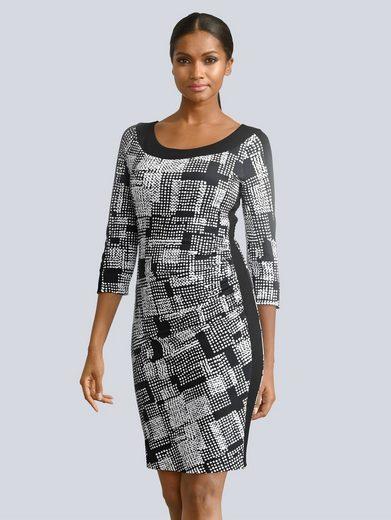Alba Moda Kleid im grafischem Dessin