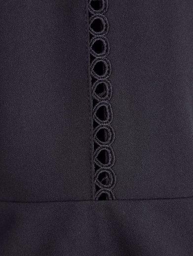 MIAMODA Kleid mit leicht transparenter Spitzenbordüre
