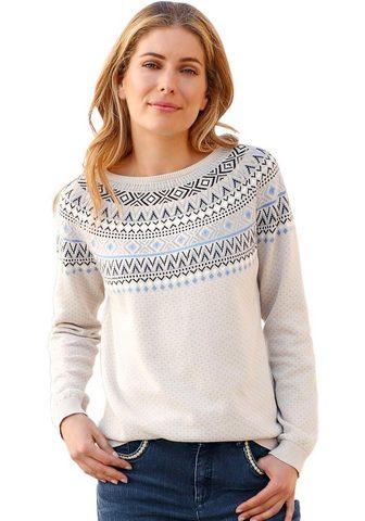 Пуловер в Norweger-Jacquardmuster