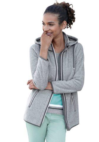 Флисовая куртка с kontrastfarbenen эле...