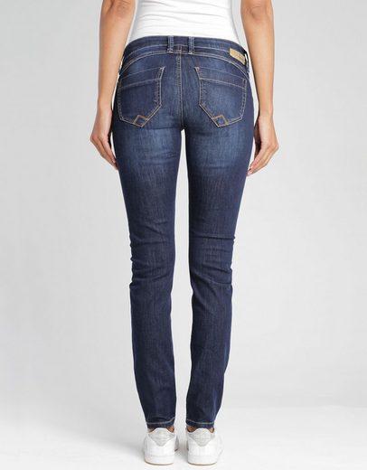 GANG Skinny-fit-Jeans »Nikita« mit Reißverschluss & Deko-Detail an der Coin-Pocket