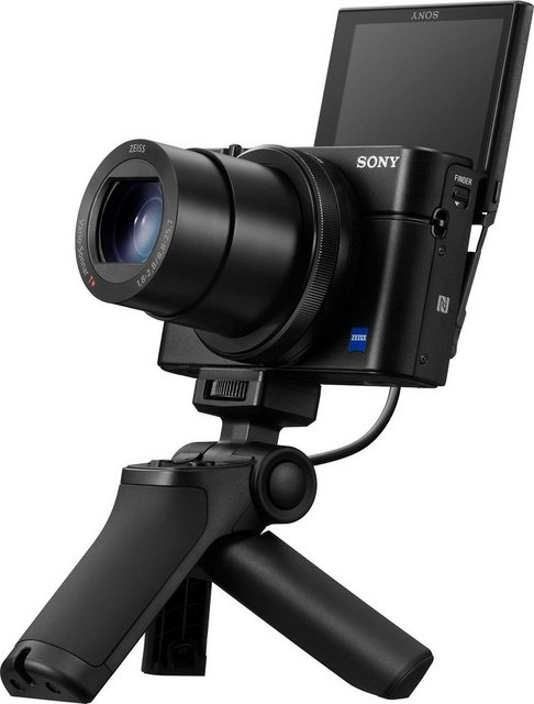 Digitalkameras - Sony »DSC RX100 III G« Kompaktkamera (24 70mm Carl Zeiss Vario Sonnar T* Objektiv (F1.8 F2.8), 20,1 MP, 2,9x opt. Zoom, NFC, WLAN (Wi Fi), inkl. VCT SGR1 Stativgriff)  - Onlineshop OTTO