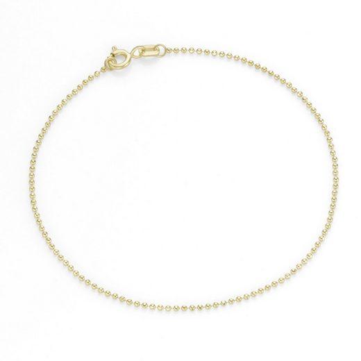 Luigi Merano Armband »diamantierte Kugelkette, Gold 375«