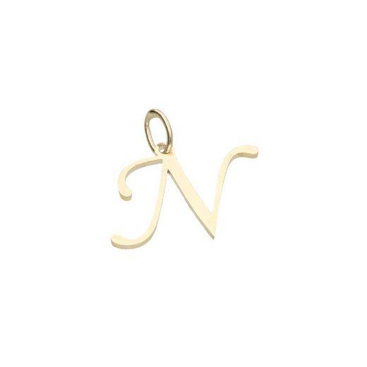 Luigi Merano Buchstabenanhänger »Buchstabe N, Gold 333«