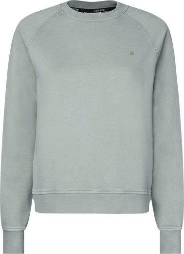 Calvin Klein Sweatshirt »GARMENT DYE LS LOGO CREW NECK« in gewaschener Optik