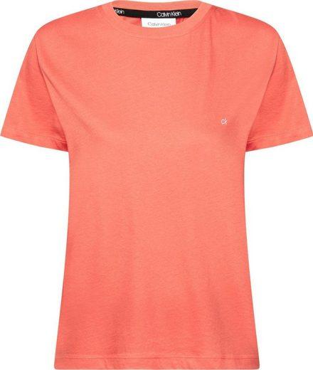 Calvin Klein T-Shirt »SMALL LOGO EMBROIDERED TEE C-NK« mit kleiner CK Logo-Stickerei