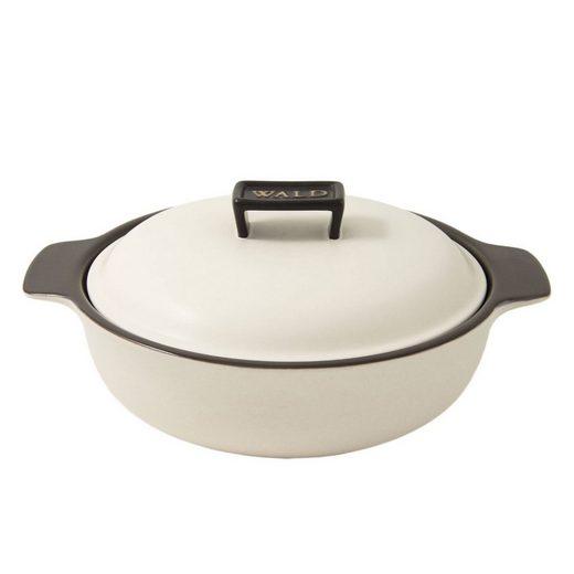 WALD WALD Keramik-Kochtopf groß flach, weiß