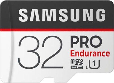 Samsung »PRO Endurance microSD 32 GB« Speicherkarte (32 GB, UHS Class 1, 100 MB/s Lesegeschwindigkeit)