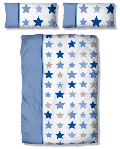 Kinderbettwäsche »Tilly«, Lüttenhütt, mit breitem Streifen und Sternen