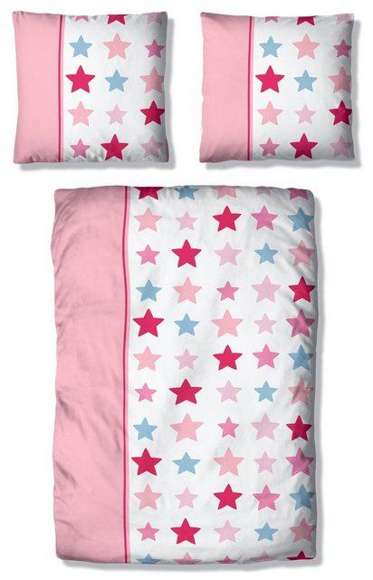 Kinderbettwäsche »Tilly«| Lüttenhütt| mit breitem Streifen und Sternen | Kinderzimmer > Textilien für Kinder > Kinderbettwäsche | Lüttenhütt