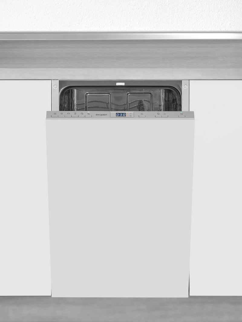 exquisit vollintegrierbarer Geschirrspüler, EGSP2109-E-030E silber, 9 l, 9 Maßgedecke