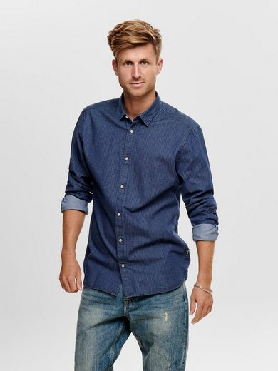 ONLY & SONS Chambray Hemd