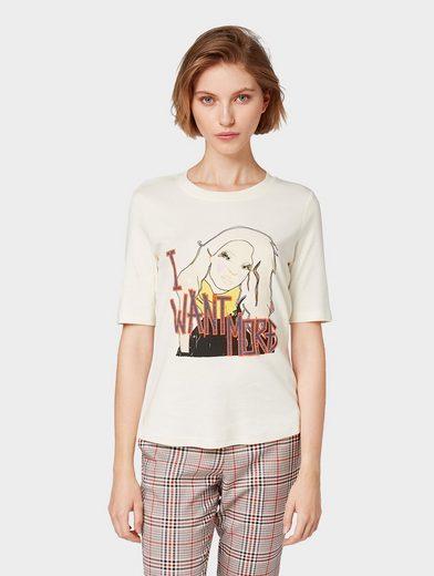 TOM TAILOR T-Shirt »Nena & Larissa: T-Shirt mit Print-Motiv«