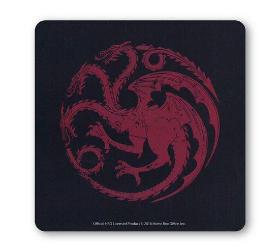 LOGOSHIRT Untersetzer mit Targaryen-Logo
