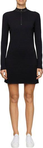 Calvin Klein Jeans Jerseykleid »NECK LOGO FITTED SWEATER DRESS« mit Calvin Kein Jeans Logo-Schriftzug am Stehkragen
