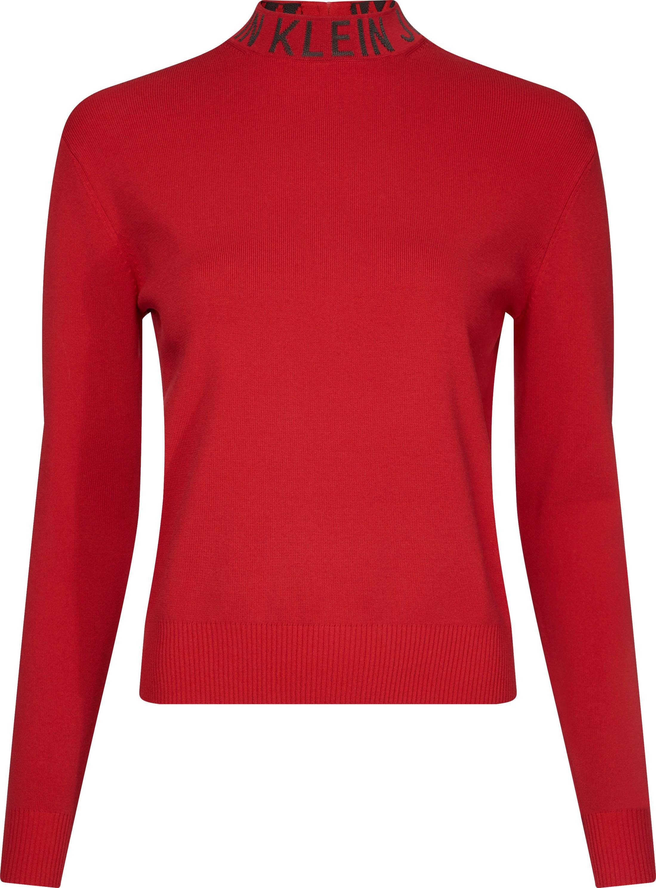 Calvin Klein Jeans Stehkragenpullover »NECK LOGO SWEATER« mit Calvin Klein Jeans Logo Schriftzug am Stehkragen online kaufen   OTTO