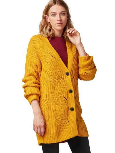 neues Konzept Verkauf Einzelhändler weit verbreitet Strickjacke in gelb online kaufen | OTTO