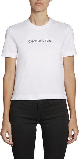Calvin Klein Jeans T-Shirt »SHRUNKEN INSTITUTIONAL LOGO TEE« mit Calvin Klein Logo-Schriftzug auf der Brust