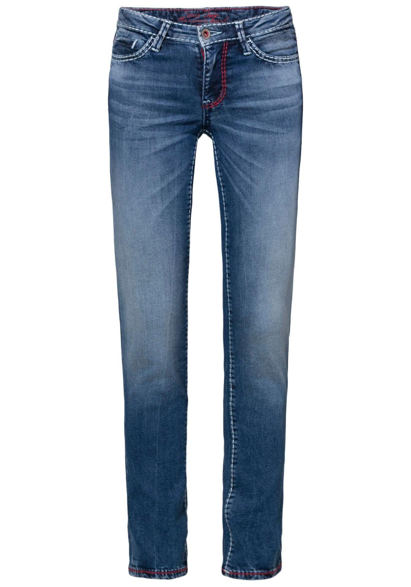 SOCCX Stretch Jeans »RO:MY« low waist, mit kontrastfarbenen Nähten online kaufen   OTTO