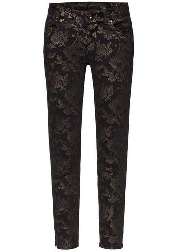 SOCCX Stretch-Jeans »MI:RA« mit glamouösem Alloverprint