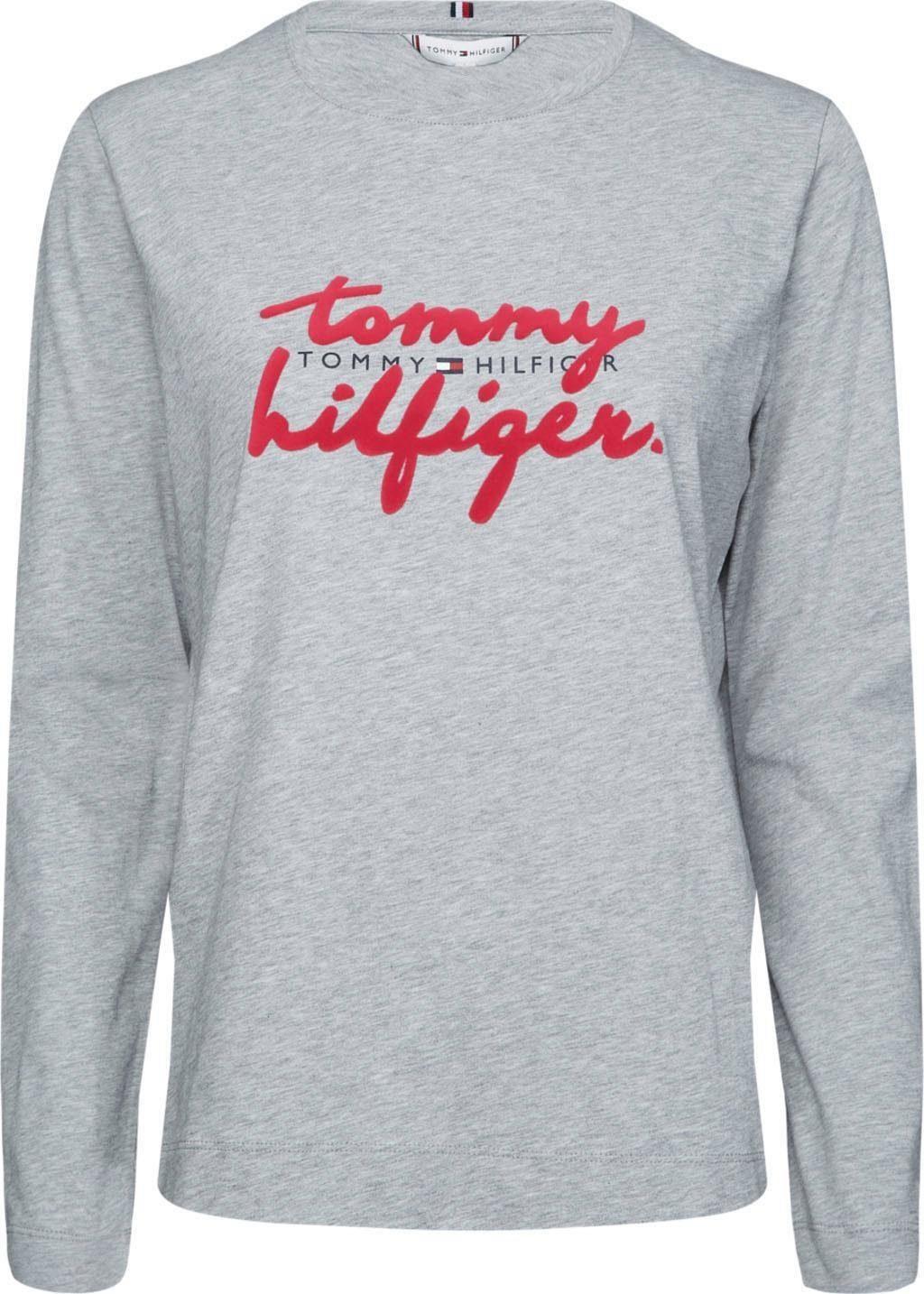 TOMMY HILFIGER Langarmshirt »ROMY C NK TEE LS« mit Tommy Hilfiger Logo Stickerei & Applikation online kaufen | OTTO