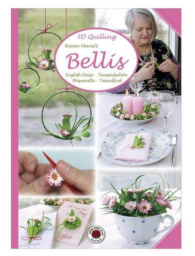 """Karen Marie Klip Heft """"3D Quilling Bellis"""" 12 Seiten"""