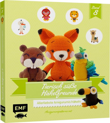 """EMF Buch """"Tierisch süße Häkelfreunde 8"""" 128 Seiten"""