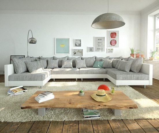 DELIFE Couch Clovis XL Wohnlandschaft Modulsofa Design Couch