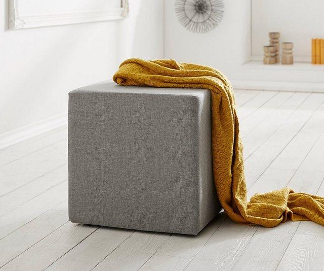 Sessel und Hocker - DELIFE Sitzhocker Dado 45x45 cm Hocker Sitzwürfel Würfelhocker  - Onlineshop OTTO