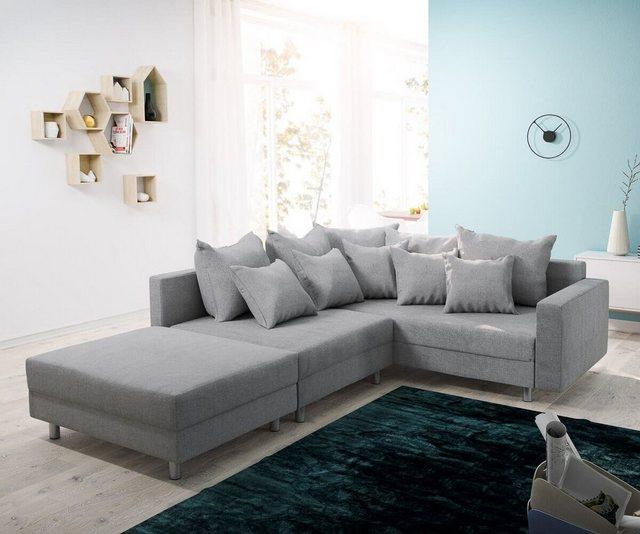 DELIFE Eckcouch Clovis modular Ecksofa Modulsofa Design Sofa | Wohnzimmer > Sofas & Couches > Ecksofas & Eckcouches | Grau | DELIFE