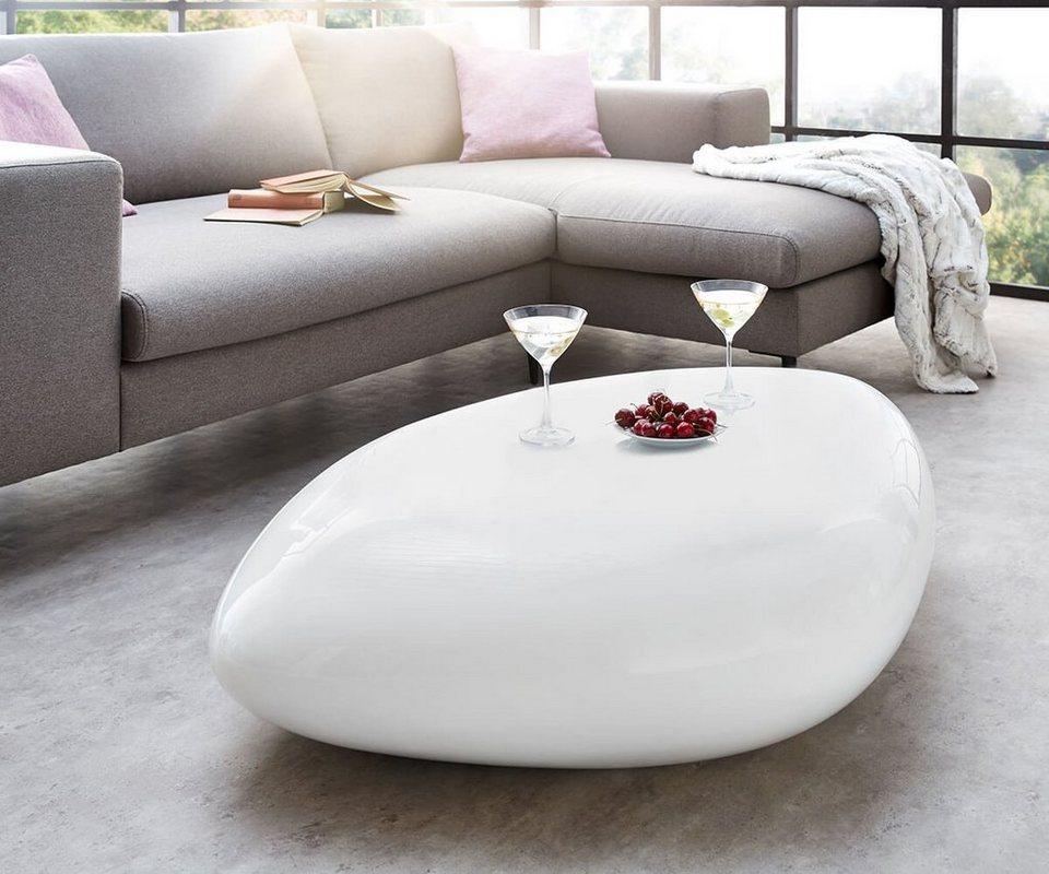 delife wohnzimmertisch rock weiss hochglanz 118x80 cm. Black Bedroom Furniture Sets. Home Design Ideas