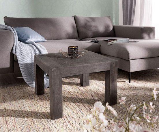 DELIFE Beistelltisch Indra 60x60 cm Massivholz quadratisch Dekotisch