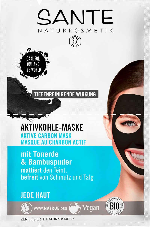 SANTE Gesichtsmaske »Aktivkohle-Maske«